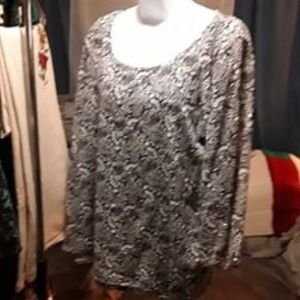 JM Collection Sequined Blouse